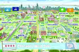 Learning map created by Root, Inc. showing the West Side of Chicago.